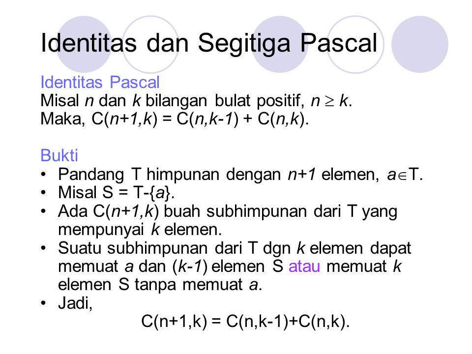 Identitas dan Segitiga Pascal