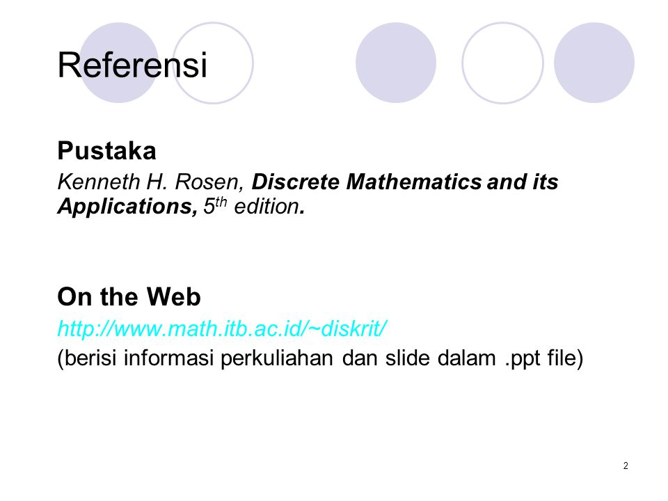 Referensi Pustaka On the Web