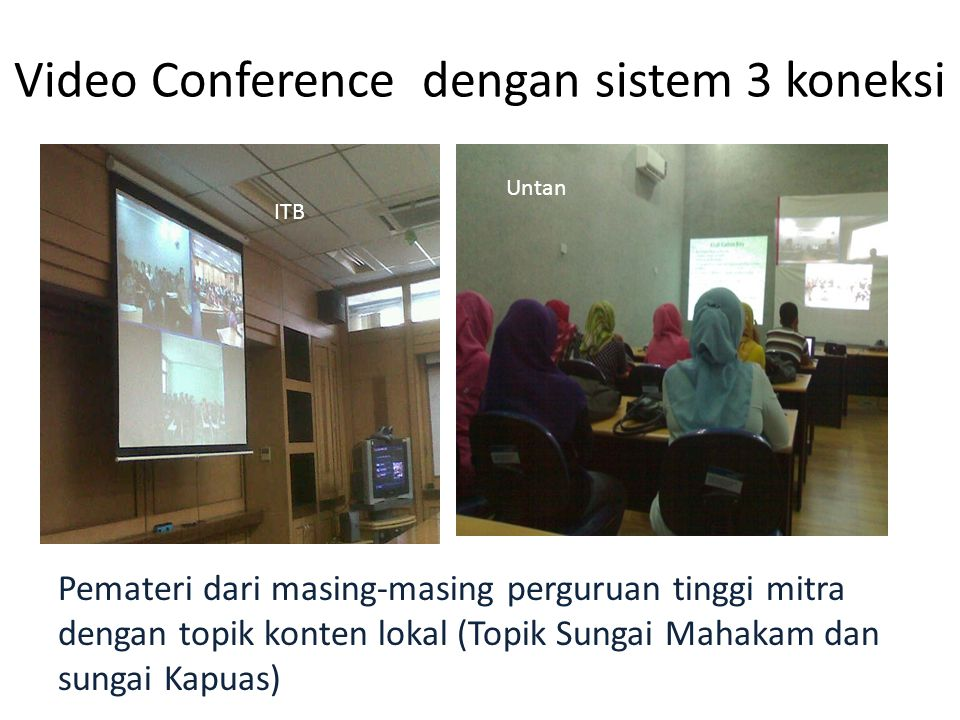 Video Conference dengan sistem 3 koneksi