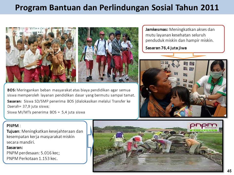 Program Bantuan dan Perlindungan Sosial Tahun 2011