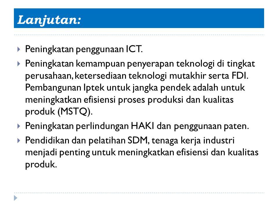 Lanjutan: Peningkatan penggunaan ICT.