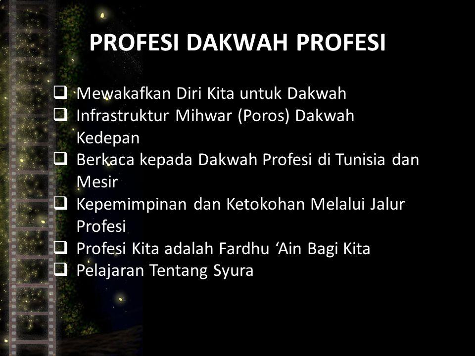 PROFESI DAKWAH PROFESI