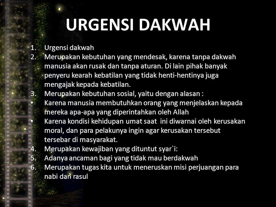 URGENSI DAKWAH Urgensi dakwah