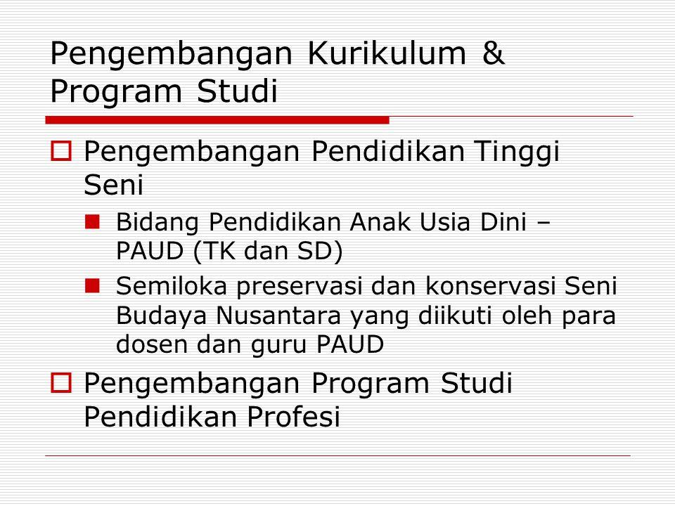 Pengembangan Kurikulum & Program Studi