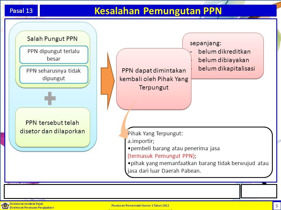 Kesalahan Pemungutan PPN