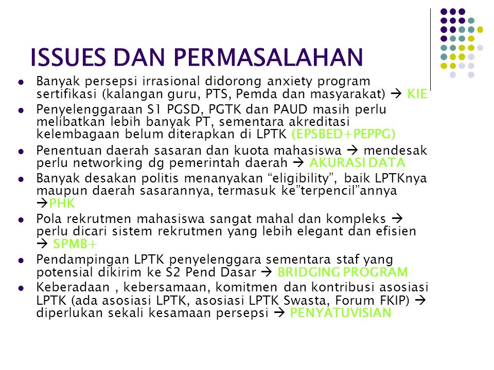 ISSUES DAN PERMASALAHAN