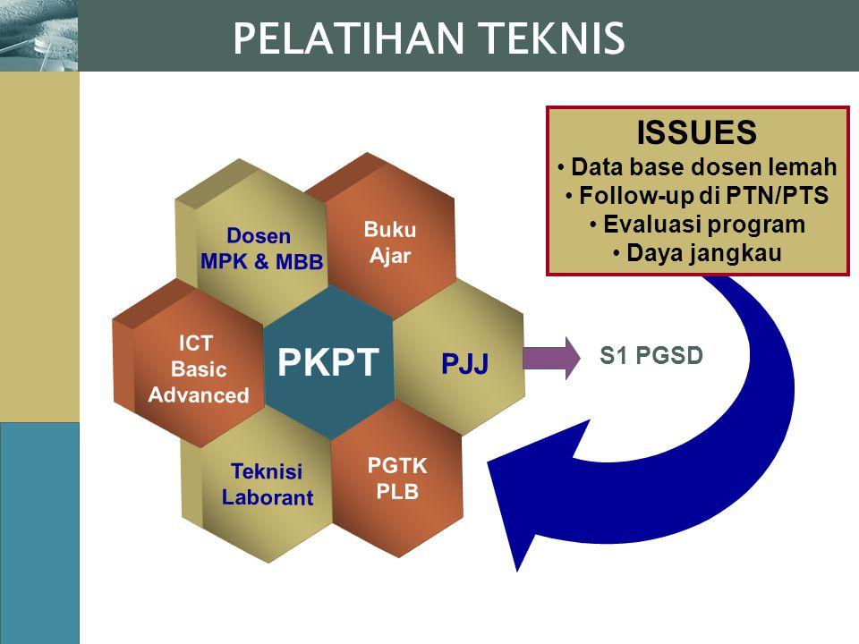 PELATIHAN TEKNIS PJJ PKPT ISSUES Data base dosen lemah