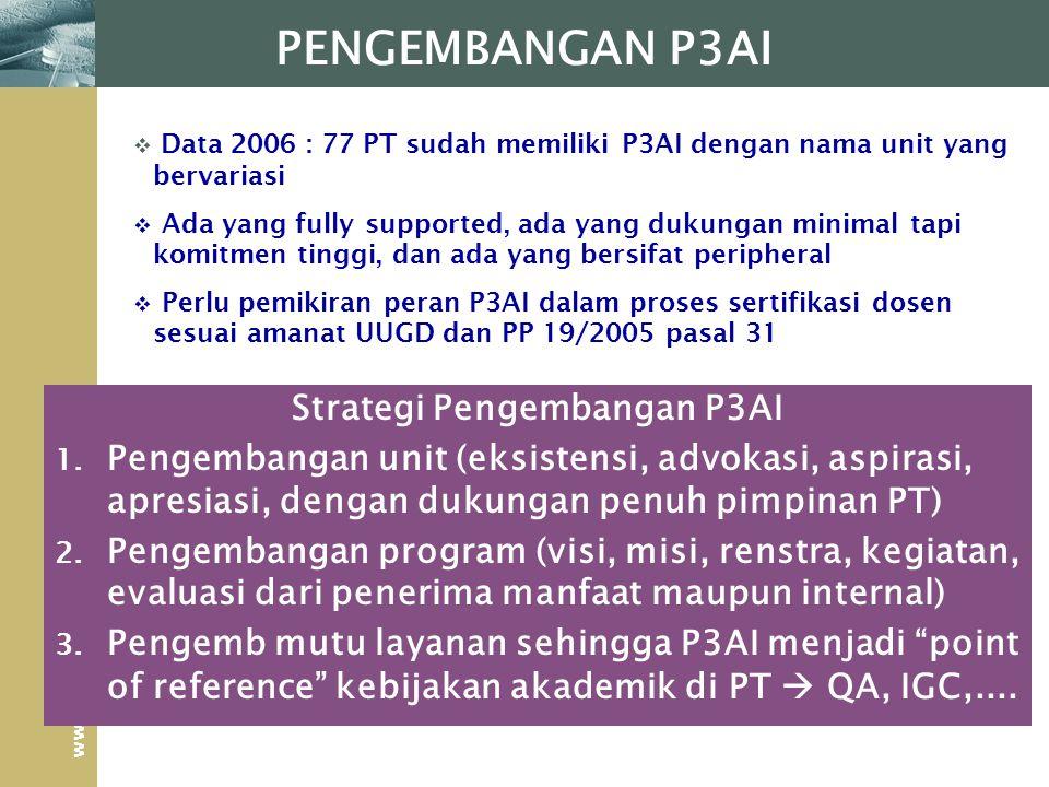 Strategi Pengembangan P3AI
