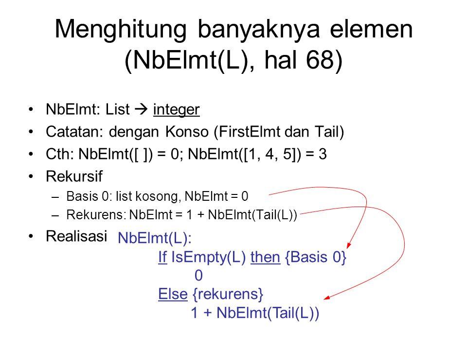 Menghitung banyaknya elemen (NbElmt(L), hal 68)
