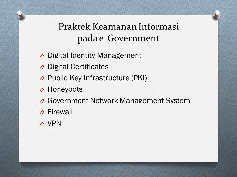 Praktek Keamanan Informasi pada e-Government