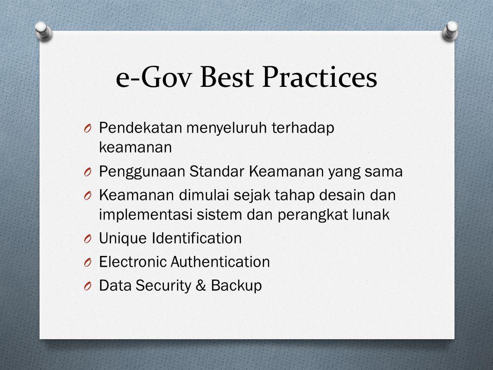 e-Gov Best Practices Pendekatan menyeluruh terhadap keamanan