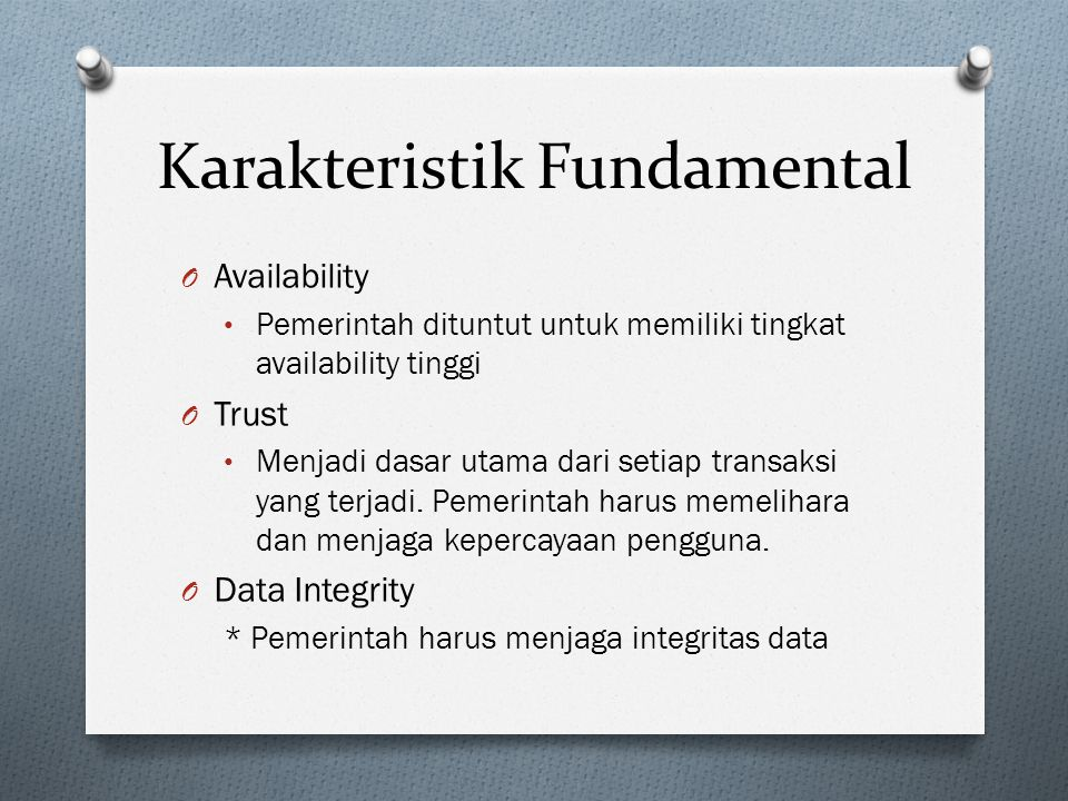 Karakteristik Fundamental