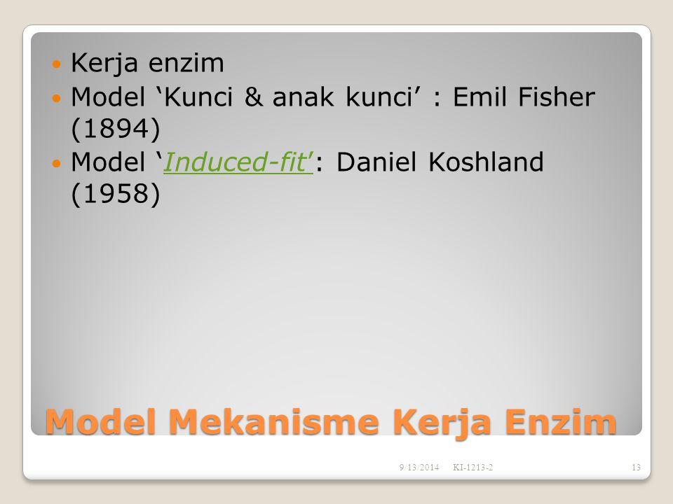 Model Mekanisme Kerja Enzim