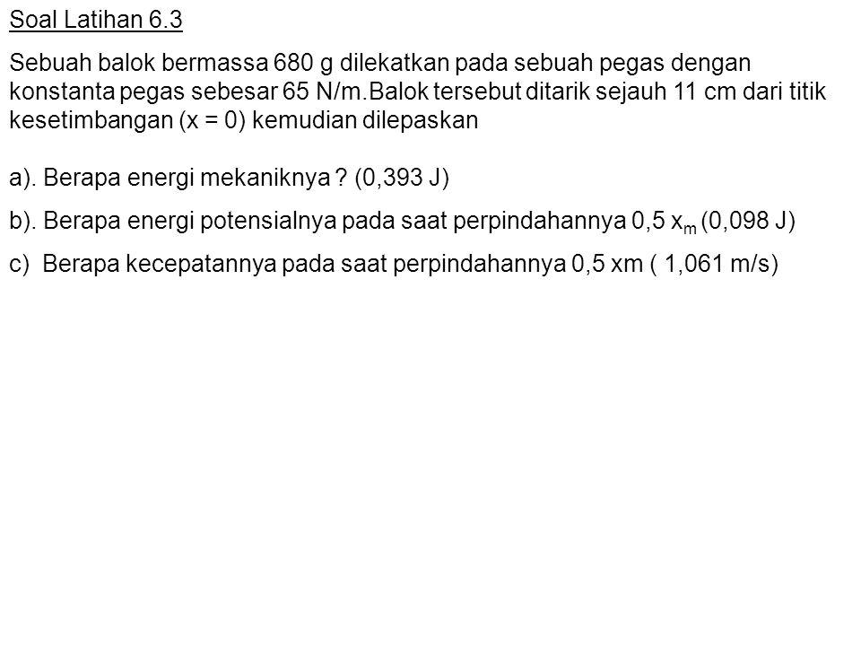 Soal Latihan 6.3