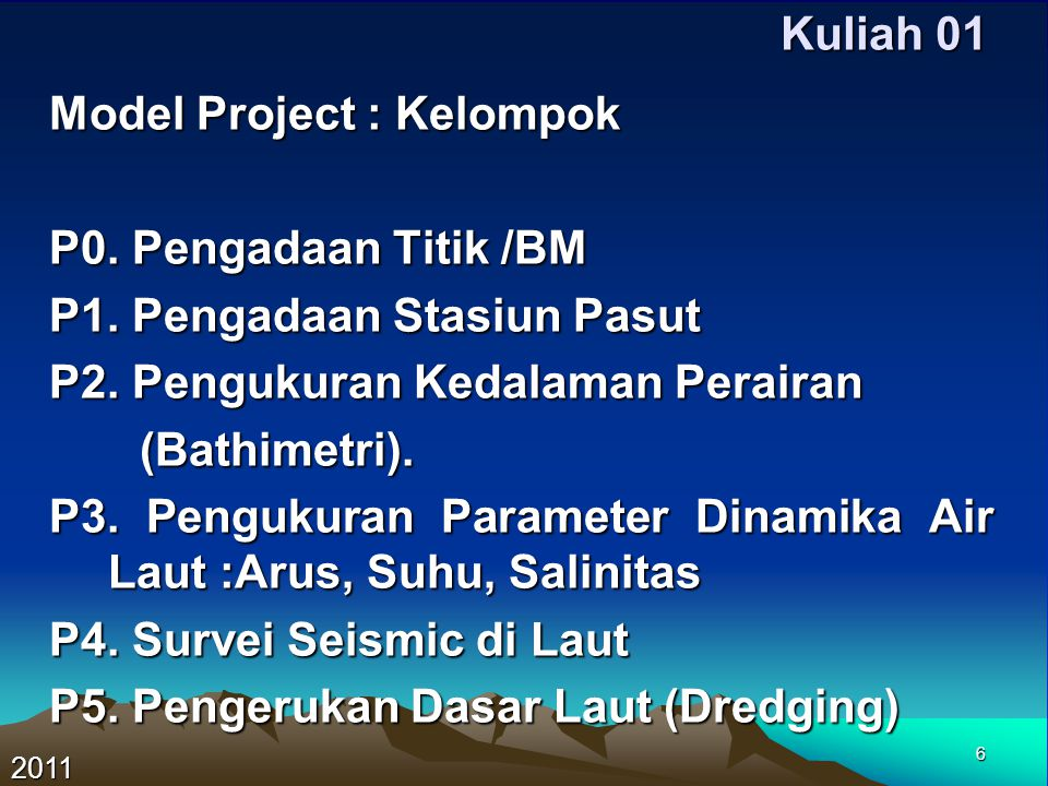 Model Project : Kelompok P0. Pengadaan Titik /BM