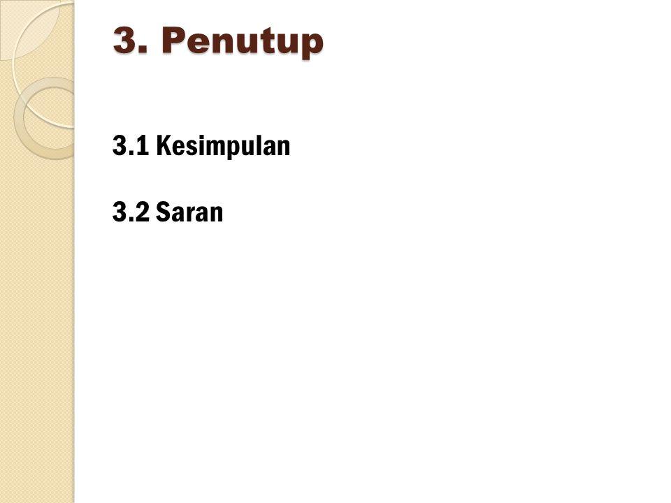 3. Penutup 3.1 Kesimpulan 3.2 Saran