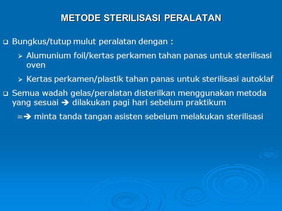 METODE STERILISASI PERALATAN
