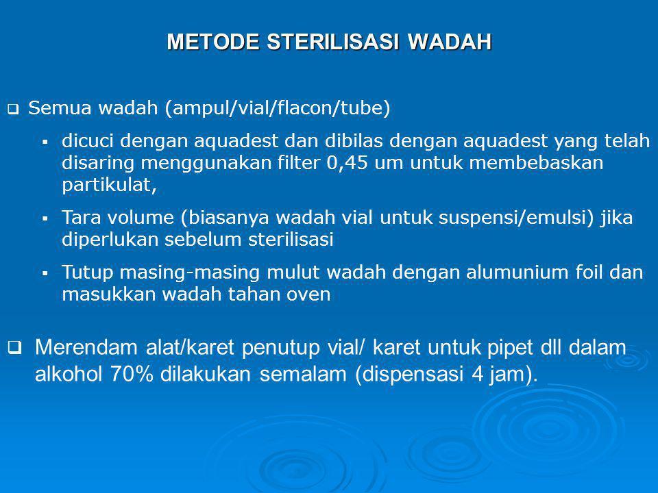 METODE STERILISASI WADAH