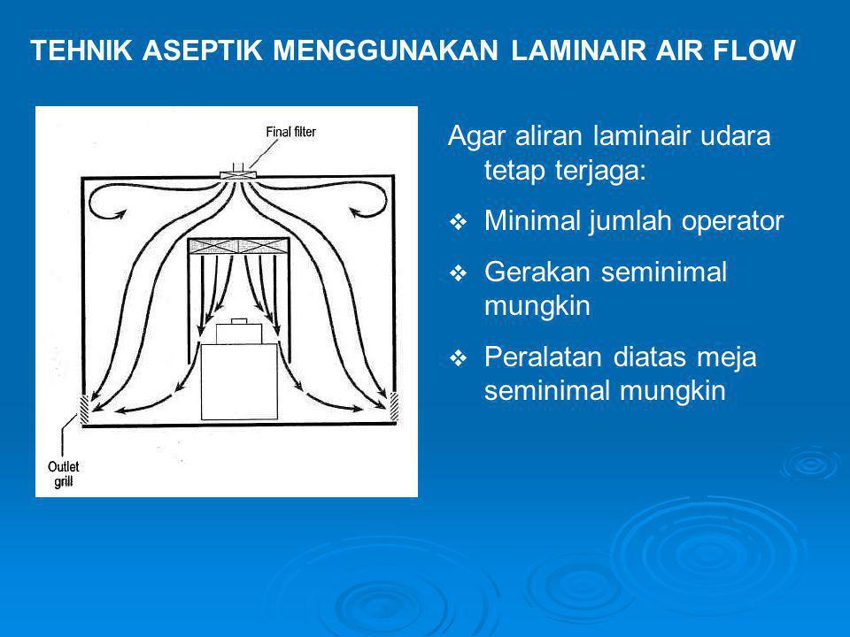 TEHNIK ASEPTIK MENGGUNAKAN LAMINAIR AIR FLOW