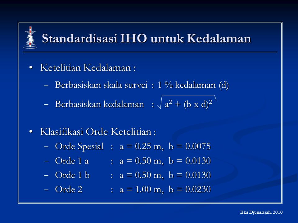 Standardisasi IHO untuk Kedalaman