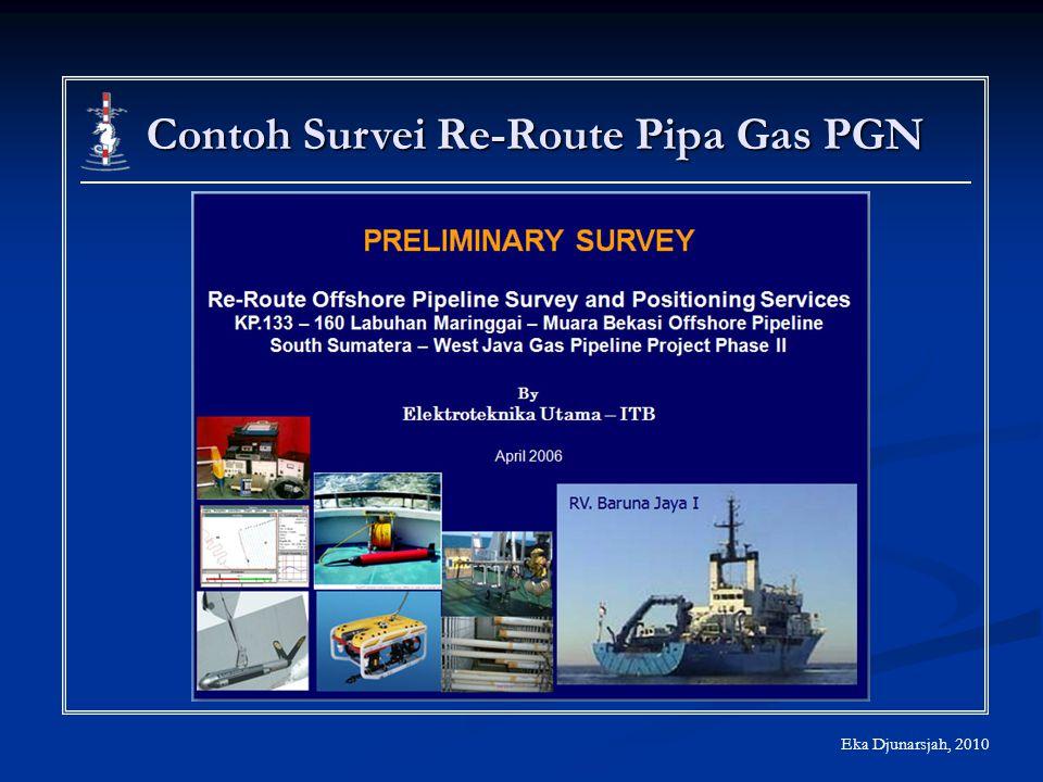 Contoh Survei Re-Route Pipa Gas PGN