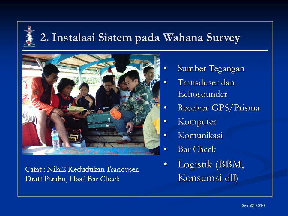 2. Instalasi Sistem pada Wahana Survey