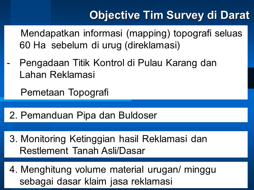 Objective Tim Survey di Darat