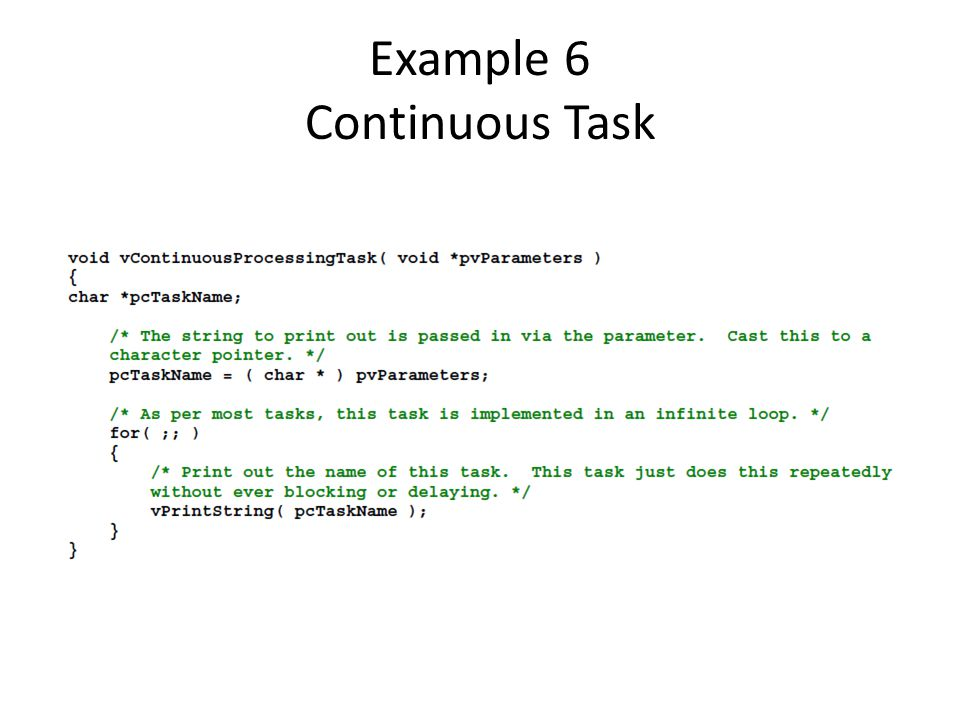 Example 6 Continuous Task
