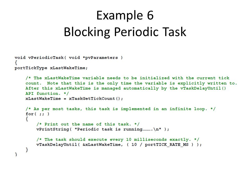 Example 6 Blocking Periodic Task