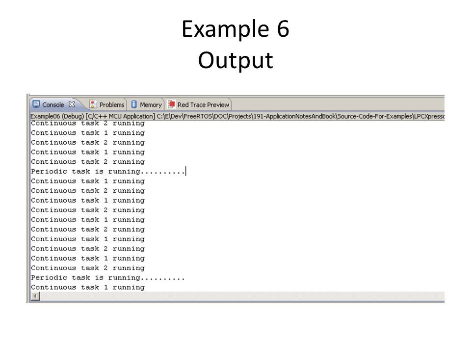 Example 6 Output