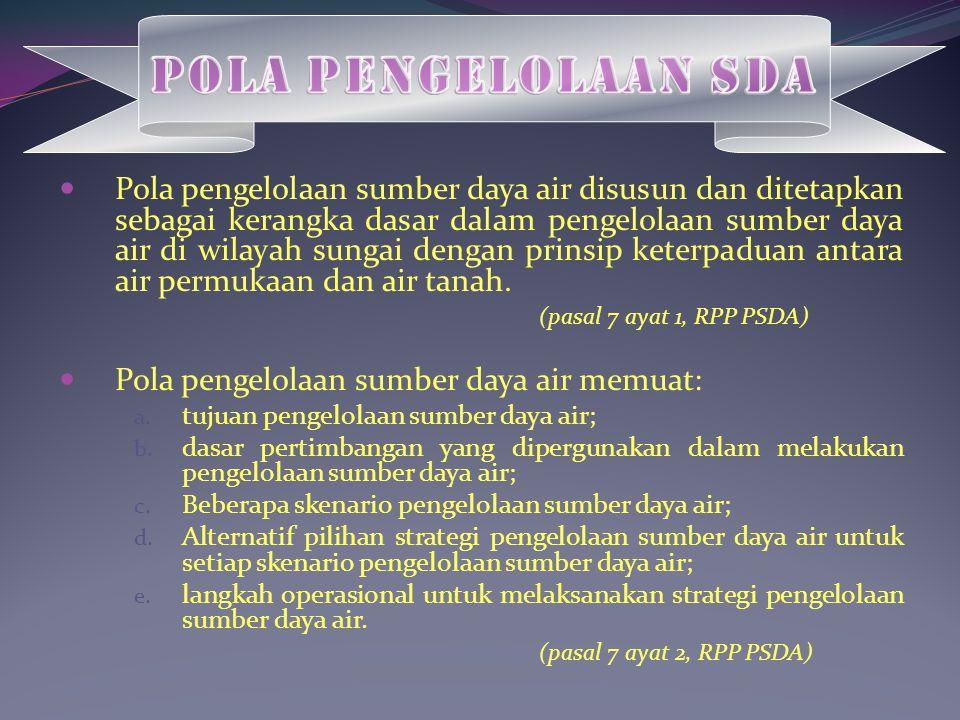 Pola Pengelolaan SDA
