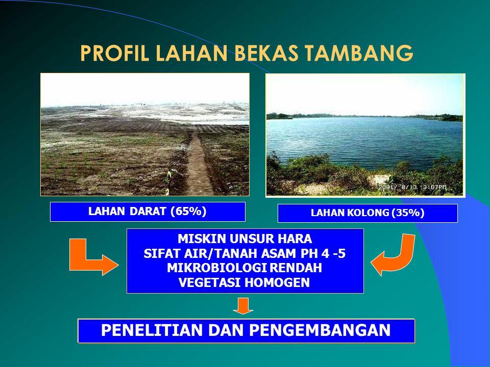 PROFIL LAHAN BEKAS TAMBANG