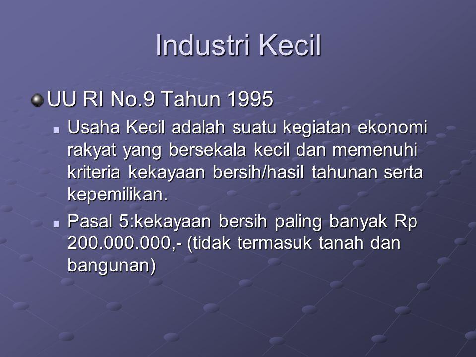 Industri Kecil UU RI No.9 Tahun 1995