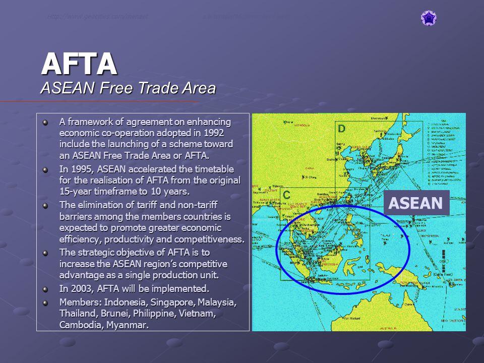 AFTA ASEAN Free Trade Area ASEAN