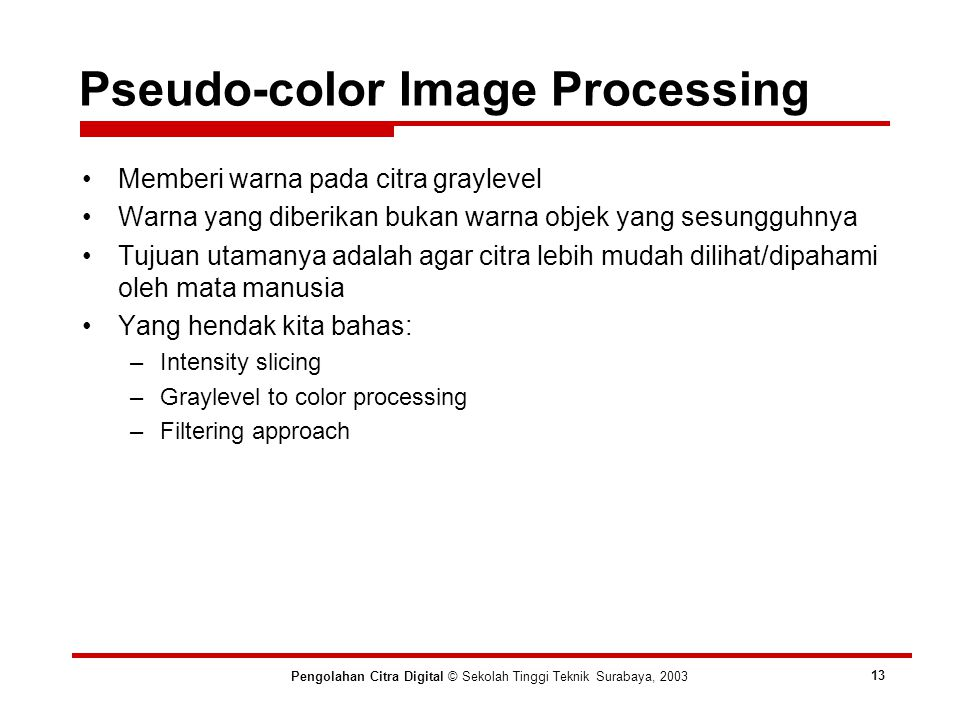 Pseudo-color Image Processing