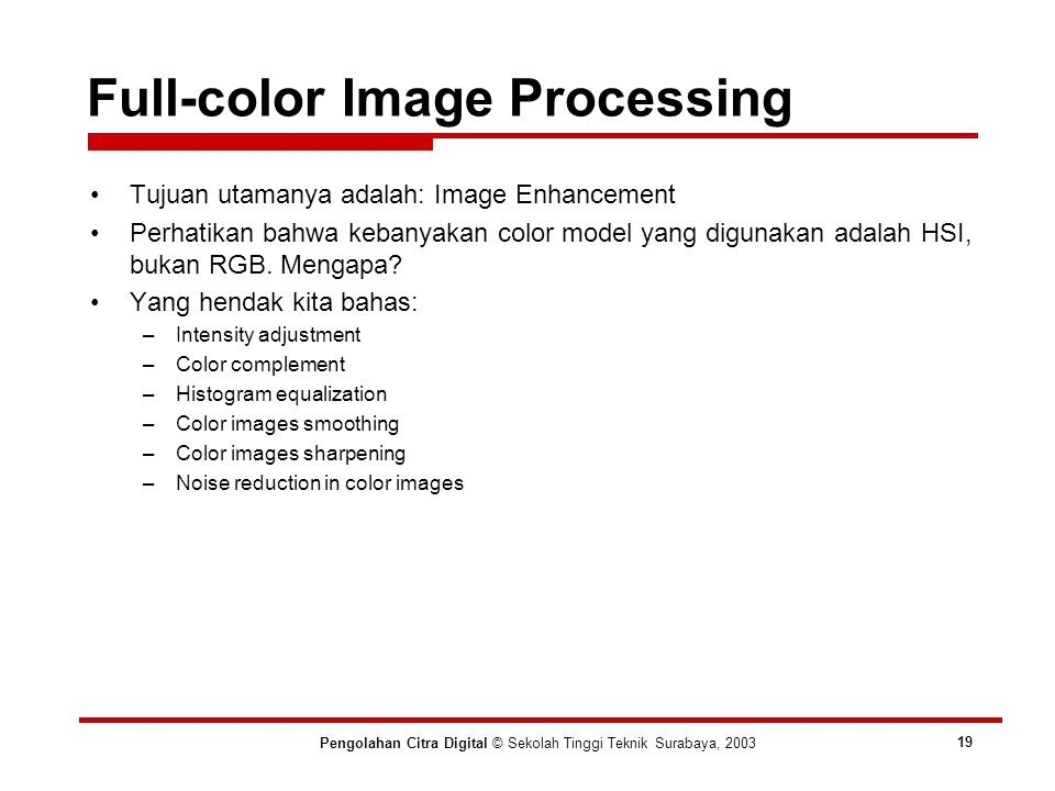 Full-color Image Processing