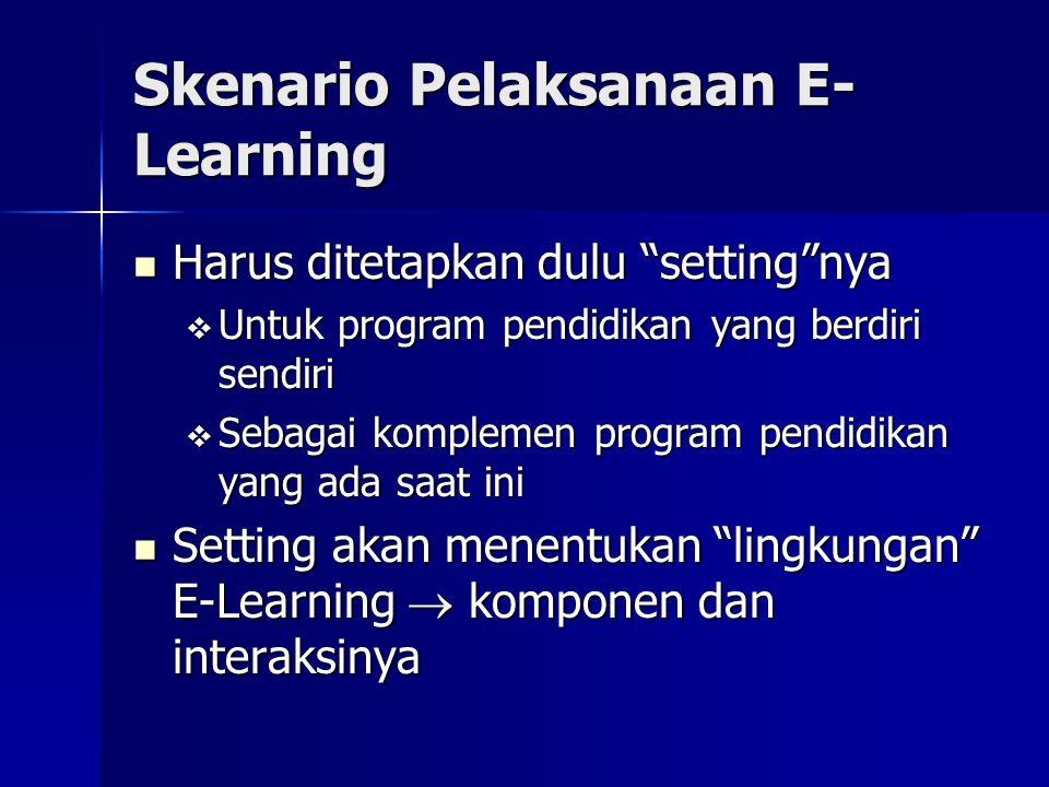 Skenario Pelaksanaan E-Learning