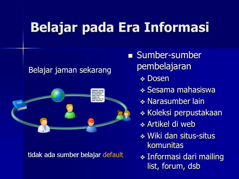 Belajar pada Era Informasi