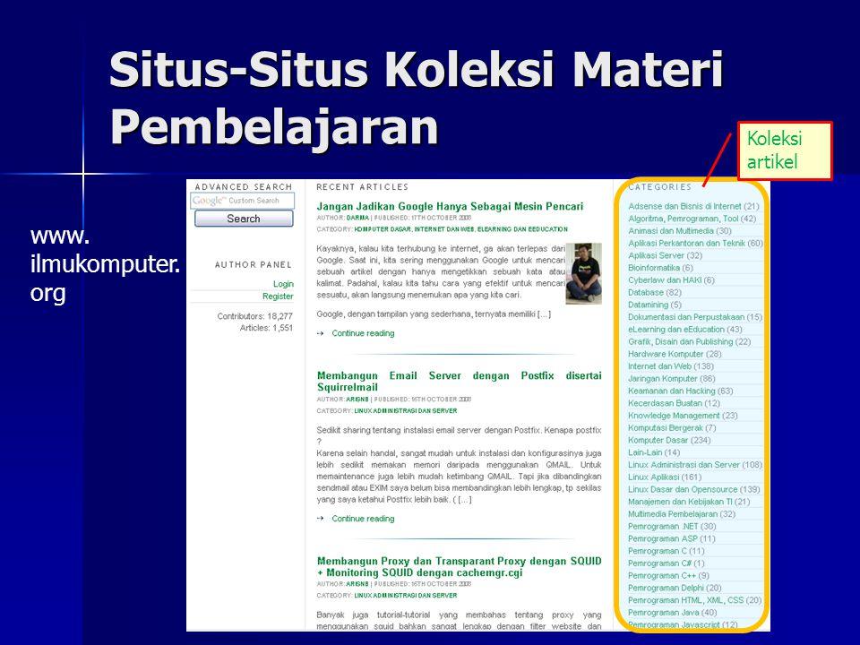Situs-Situs Koleksi Materi Pembelajaran