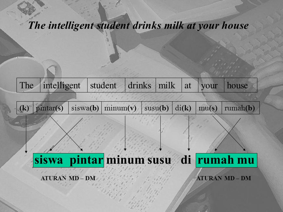 The intelligent student drinks milk at your house