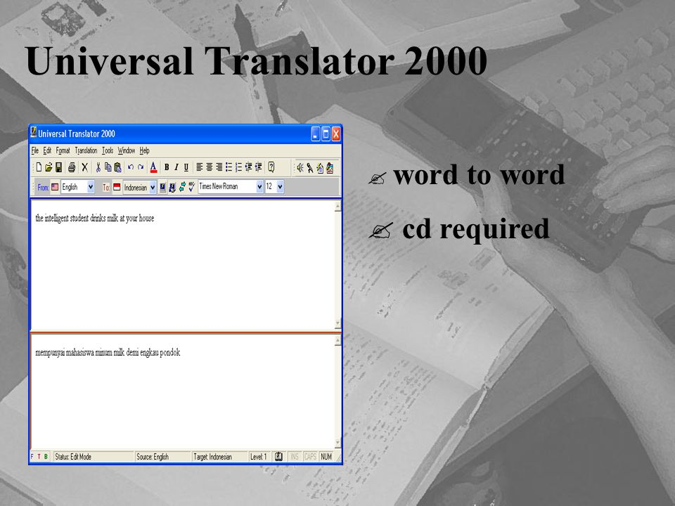 Universal Translator 2000 word to word cd required