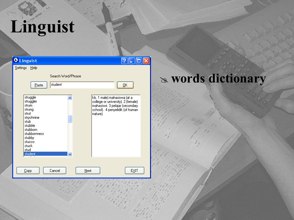Linguist words dictionary
