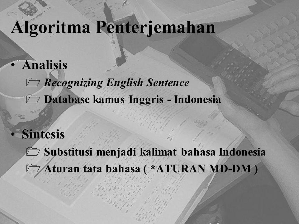 Algoritma Penterjemahan