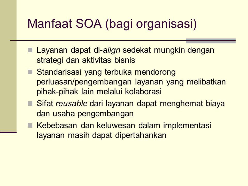 Manfaat SOA (bagi organisasi)