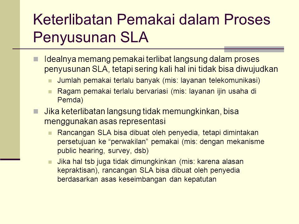 Keterlibatan Pemakai dalam Proses Penyusunan SLA