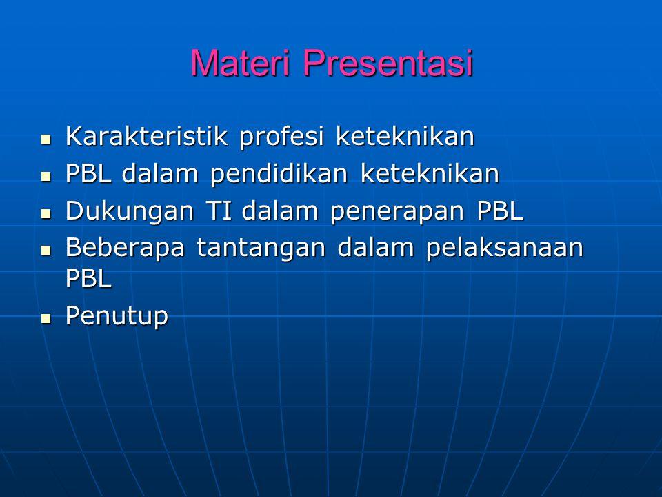 Materi Presentasi Karakteristik profesi keteknikan