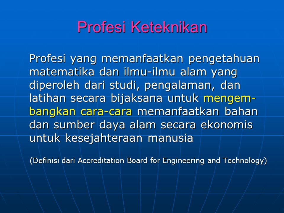 Profesi Keteknikan