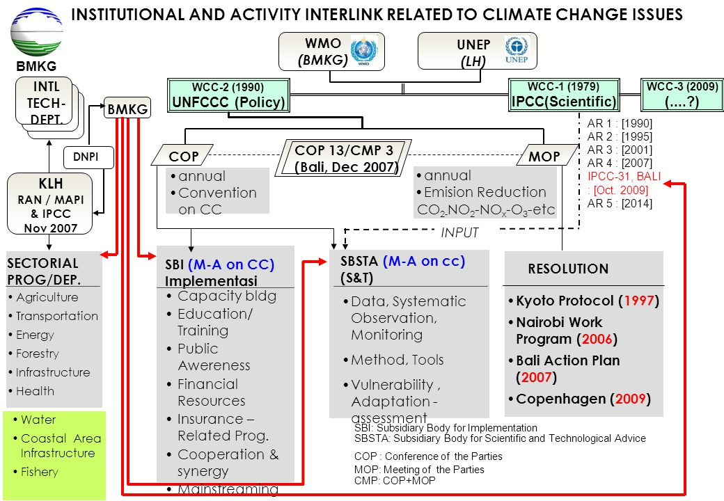 INSTITUTIONAL AND ACTIVITY INTERLINK RELATED TO CLIMATE CHANGE ISSUES