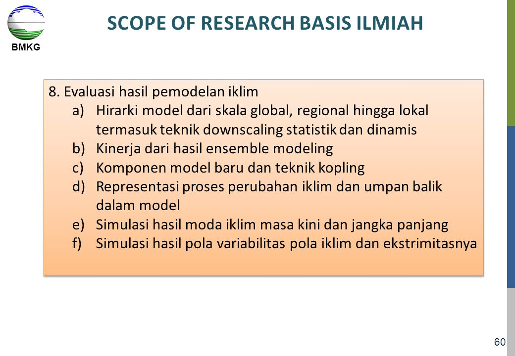 SCOPE OF RESEARCH BASIS ILMIAH