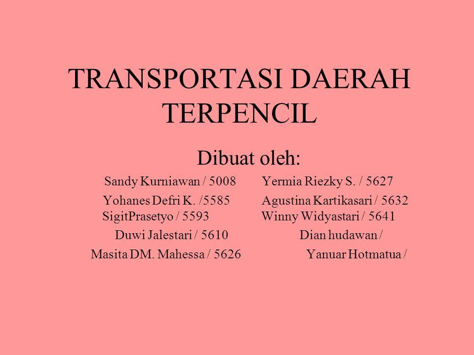 TRANSPORTASI DAERAH TERPENCIL